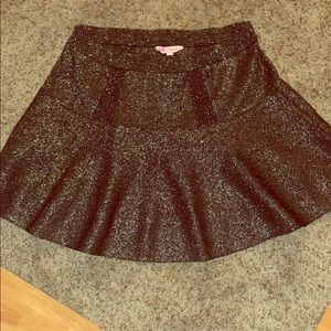 Candies Black shimmer skirt